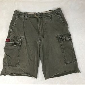 Abercrombie & Fitch distressed cargo shorts EUC.